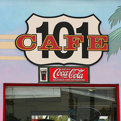 Beach Cafe Poster by Art Block Collections