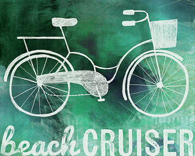 Beach Cruiser Poster by Katie Doucette