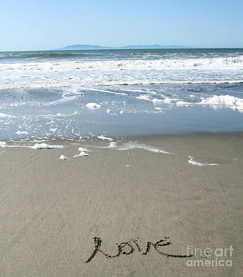 Beach Love Poster by Linda Woods
