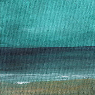 Beach Morning- Abstract Landscape Poster by Linda Woods