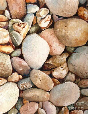 Beach Rocks Poster by Andrea Timm