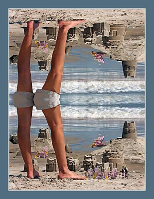 Beach Scene Poster by Betsy Knapp