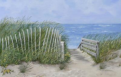 Beach Scene Poster by Virginia McLaren