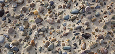 Beach Stones Poster by Charles Harden