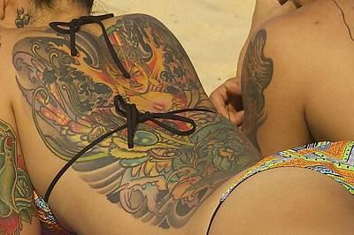 Beach Tattoo Poster by Stuart Litoff