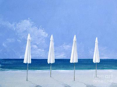 Beach Umbrellas Poster by Lincoln Seligman
