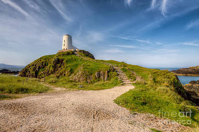 Beacon At Llanddwyn Poster by Adrian Evans