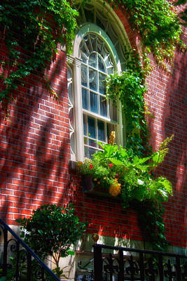 Beacon Hill Window Series Poster by Joann Vitali