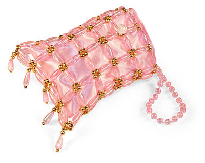 Beaded Satin Purse Poster by Jo Ann Snover