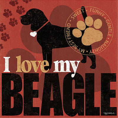 Beagle Poster by Kathy Middlebrook