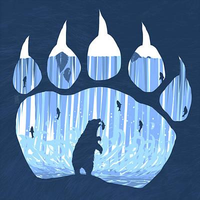 Bear Paw Poster by Daniel Hapi