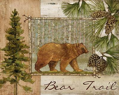 Bear Trail Poster by Paul Brent