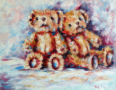 Bears Poster by Kovacs Anna Brigitta