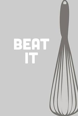 Beat It Poster by Nancy Ingersoll