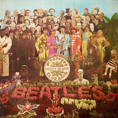 Beatles Lonely Hearts Club Band Poster by Gina Dsgn