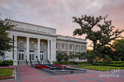 Beaumont City Hall At Sunrise - East Texas Poster by Silvio Ligutti