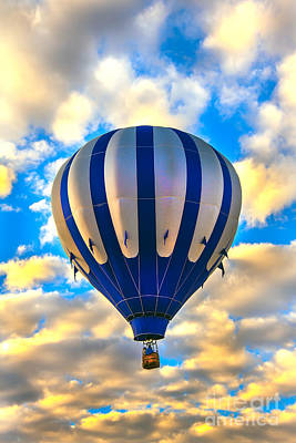 Beautiful Blue Hot Air Balloon Poster by Robert Bales