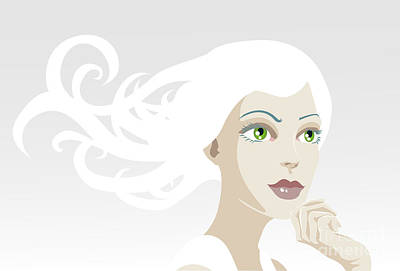 Beautiful Ethereal Tranquil Woman Poster by Christos Georghiou