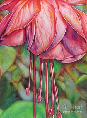 Beautiful Fuschia Poster by Karina Griffiths