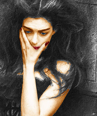 Beautiful Melancholy 3 Poster by Tony Rubino