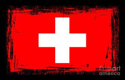 Beautiful Switzerland Flag Poster by Pamela Johnson
