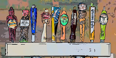 Beer Taps Duval Street Key West Pop Art Style Poster by Ian Monk