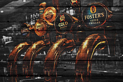 Beer Taps Poster by Joe Hamilton