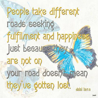 Bella Butterflies 2 Poster by Debbie DeWitt
