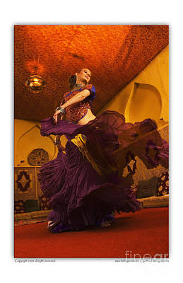 Belly Dancer Lisa Goodrich At The Mataam Fez Poster by Cynthia Holling-Morris