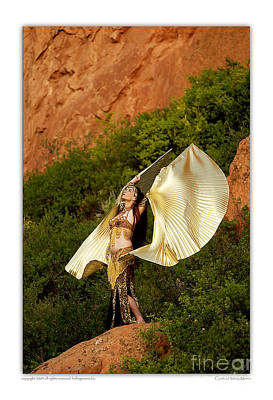 Belly Dancer Mahisha With Isis Wings Poster by Cynthia Holling-Morris