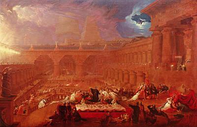 Belshazzars Feast, 1820 Poster by John Martin