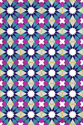 Ben Yusuf Madrasa Geometric Pattern 1 Poster by Hakon Soreide