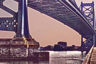 Benfranklin Bridge 2 Poster by Tom Gari Gallery-Three-Photography