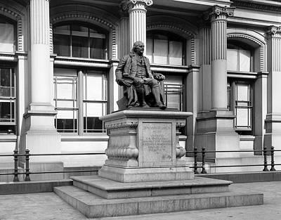 Benjamin Franklin Statue Philadelphia Poster by Digital Reproductions