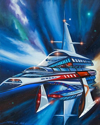 Berkey Iv Starship Poster by James Christopher Hill