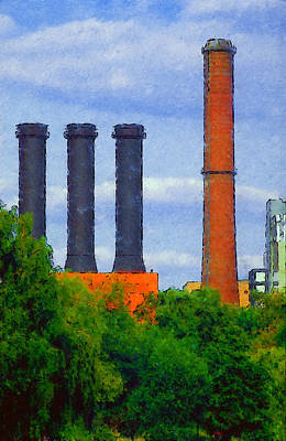 Berlin Plant -- Fabrik In Berlin Poster by Arthur V Kuhrmeier