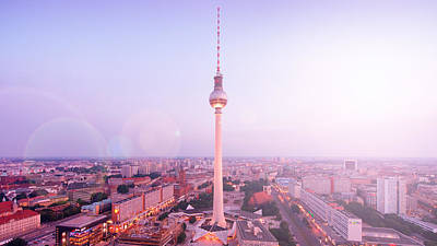 Berlin Skyline And Tv Tower Poster by Alexander Voss