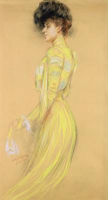 Berthe Cerny 1868-1940 June 1900 Pencil On Paper Poster by Jules Cayron