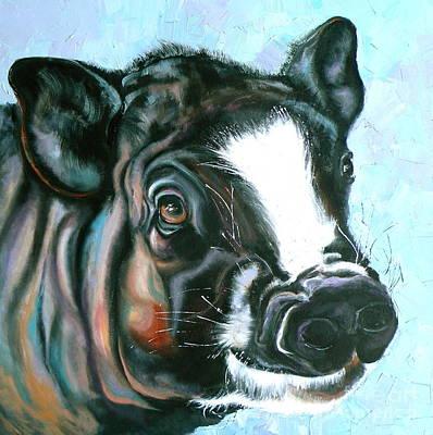 Best Pig Ever Poster by Susan A Becker