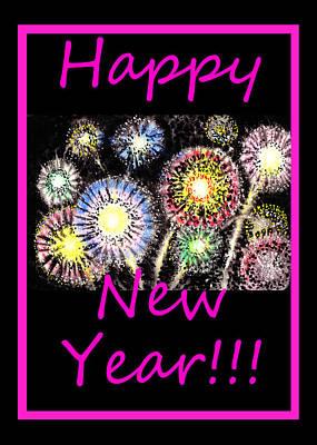 Best Wishes And Happy New Year Poster by Irina Sztukowski