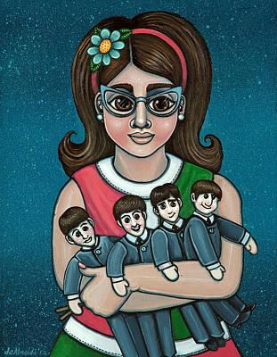Betty Jeans Beatles Poster by Victoria De Almeida