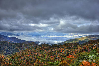 Between The Clouds Blue Ridge Parkway North Carolina Poster by Reid Callaway