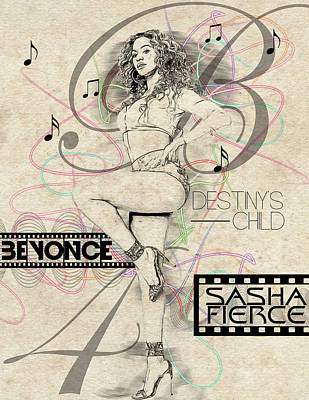 Beyonce Poster by Anibal Diaz