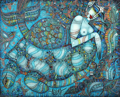Beyond The Oceans... Poster by Albena Vatcheva