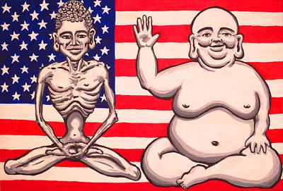Bi-polar Buddha Poster by Nathan Winsor
