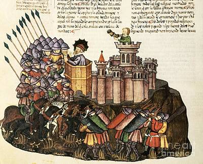 Biblical Siege From Ezekial, 1430 Artwork Poster by Patrick Landmann