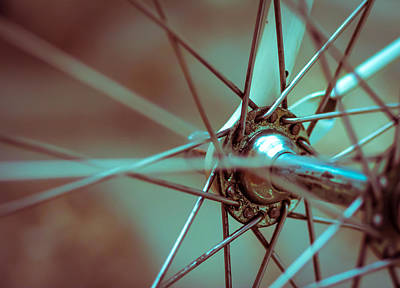 Bicycle Abstract Poster by Modern Art Prints