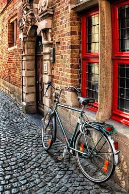 Bicycle In Bruges Poster by Carol Japp