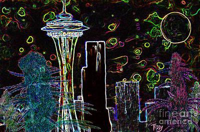 Big Bud Seattle Skyline  Poster by Teddy Maritopia