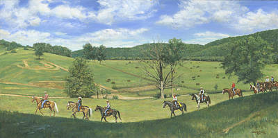 Big Creek Trail Ride Poster by Don  Langeneckert